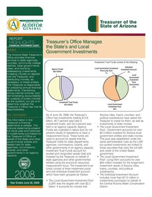 Treasurer of the State of Arizona June 30, 2008 Report Highlights -Financial Audit