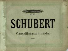 Partition complète, 8 Variations on an Original Theme, D.813, Schubert, Franz