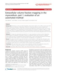 Extracellular volume fraction mapping in the myocardium, part 1: evaluation of an automated method