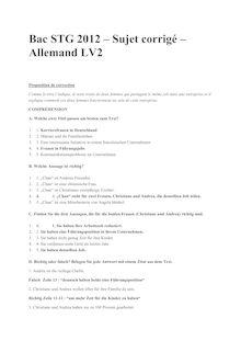 Bac 2012 STG Allemand LV2 Corrige