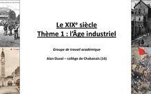 Le XIXe siècle : l'âge industriel - cours d'histoire 4eme