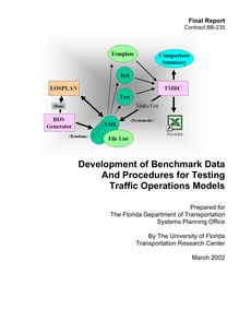 Development of Benchmark Data And Procedures for Testing ...