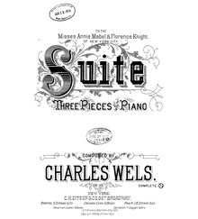 Partition complète, 3 Pieces for the PIano, F major, Wels, Charles