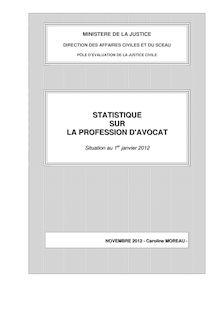 Statistique sur la profession d'avocat