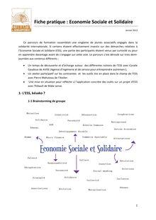 Economie sociale et solidaire une alternative