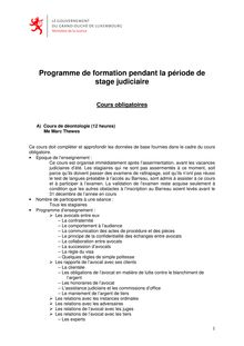 info cours obligatoires-stage
