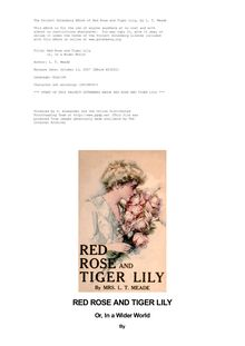 Red Rose and Tiger Lily - or, In a Wider World