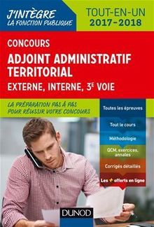 Concours Adjoint administratif territorial 2017/2018 - 3e éd.