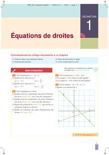 Chapitre G4 2nde : Équations de droites