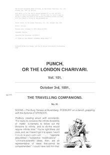 Punch, or the London Charivari, Volume 101, October 3, 1891
