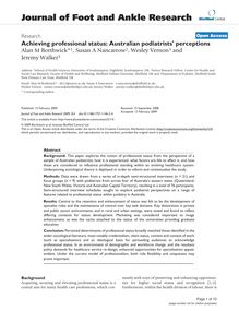 Achieving professional status: Australian podiatrists