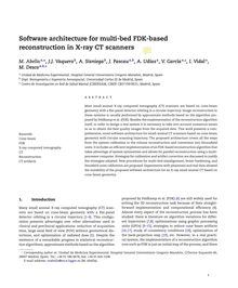 Software architecture for multi-bed FDK-based reconstruction in X-ray CT scanners
