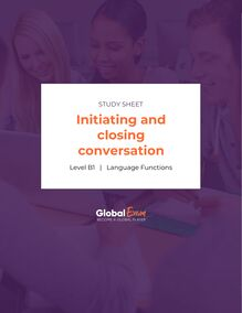 Initiating and closing conversation