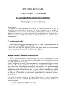 Corrige dissertation philo