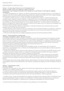 Programme officiel de la spécialité SVT en Terminale S