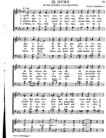 Partition , Hymn: Of pour Father