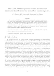 The FENE dumbbell polymer model: existence and uniqueness of solutions for the momentum balance equation