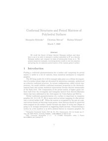 Conformal Structures and Period Matrices of Polyhedral Surfaces