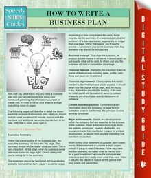How To Write A Business Plan (Speedy Study Guides)