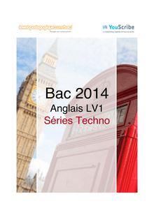Corrigé bac 2014 - Séries techno - LV1 anglais