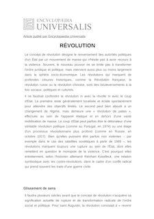 Définition et synonyme de : RÉVOLUTION - Enzo TRAVERSO