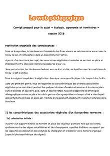 Baccalauréat Ecologie, Agronomie et Territoire - Série S