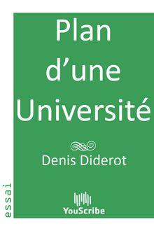 Plan d'une Université de Denis Diderot - fiche descriptive