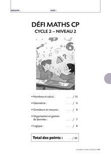 DÉFI MATHS CP CYCLE 2