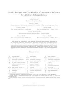 Static Analysis and Verification of Aerospace Software by Abstract Interpretation
