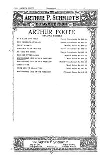 Partition complète, Recessional, God of our Fathers, Foote, Arthur