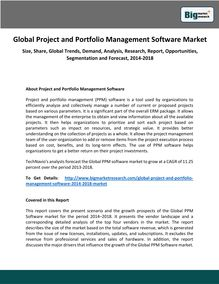 Global Project and Portfolio Management Software Market Size, Share, Global Trends, Analysis, Research, Report, Opportunities, Segmentation and Forecast, 2014-2018