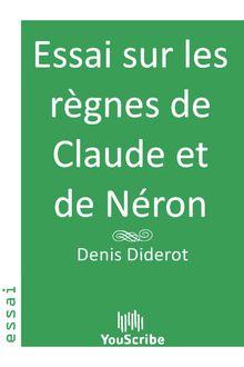 Essai sur les règnes de Claude et de Néron de Denis Diderot - fiche descriptive