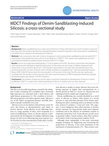 MDCT Findings of Denim-Sandblasting-Induced Silicosis: a cross-sectional study