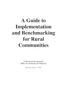 A Guide to Implementation and Benchmarking for Rural Communities