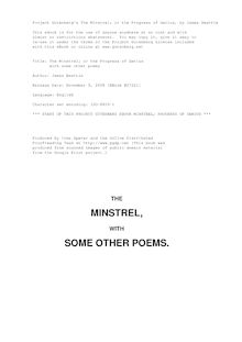 The Minstrel; or the Progress of Genius - with some other poems