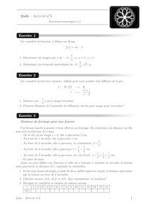 Cours et activités, Fonctions (1) Activité 3