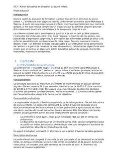 EJE :DF2- Action éducative en direction du jeune enfant - helene benoit