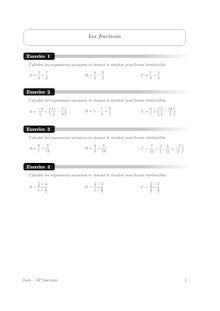 Accompagnement personnalisé, Probabilités Fractions (1)