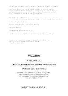 Mizora: A Prophecy - A MSS. Found Among the Private Papers of the Princess Vera Zarovitch