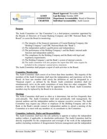 6-A Audit Committee Charter 11-09