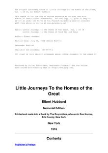 Little Journeys to the Homes of the Great - Volume 01 - Little Journeys to the Homes of Good Men and Great