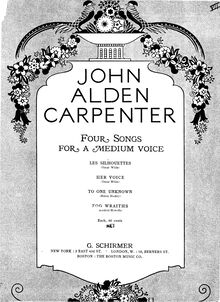 Partition , Fog Wraiths, 4 chansons, 4 Songs for Medium Voice, Carpenter, John Alden