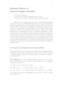 1Potential Theory in Several Complex Variables