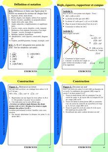 Fiche de révision et d'exercice - Géométrie