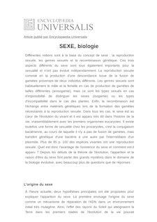 Définition et synonyme de : SEXE, biologie - Lluis QUINTANA-MURCI
