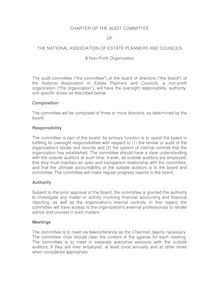 Audit Committe Charter - NAEPC