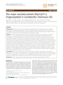 The major secreted protein Msp1/p75 is O-glycosylated in Lactobacillus rhamnosusGG