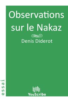 Observations sur le Nakaz de Denis Diderot - fiche descriptive