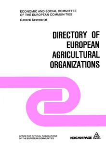 Directory of European agricultural organizations
