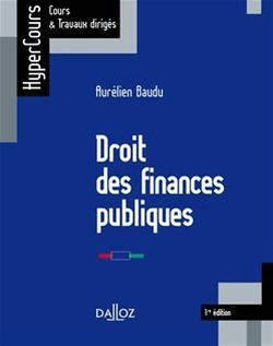 Droit des finances publiques - Aurélien Baudu